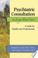 Psychiatric Consultation in Long Term Care