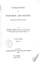 Narratives of Sorcery and Magic from the Most Authentic Sources