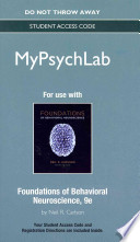 Foundations of Behavioral Neuroscience MyPsychLab Access Code