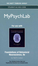 Foundations Of Behavioral Neuroscience Mypsychlab Access Code Book PDF