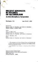 Recent Advances in Studies of Alcoholism