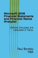 Microsoft 2019 Financial Statements and Financial Ratios Analyzed Book