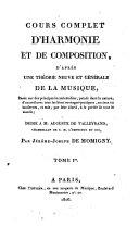 Cours complet d'harmonie et de composition
