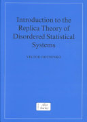 Introduction to the Replica Theory of Disordered Statistical Systems