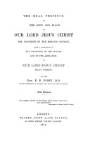 The Real Presence of the Body and Blood of Our Lord Jesus Christ