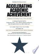 Accelerating Academic Achievement