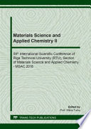 Materials Science and Applied Chemistry II