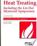 Heat Treating 1998: Proceedings of the 18th Conference: Including the Liu Dai Memorial Symposium