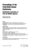 Proceedings Of The Annual Conference Southeastern Association Of Fish And Wildlife Agencies