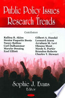 Public Policy Issues Research Trends