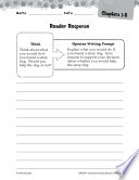 Because of Winn Dixie Reader Response Writing Prompts Book