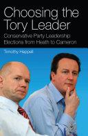 Choosing the Tory Leader