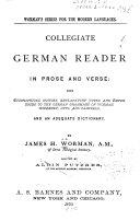 Collegiate German Readers in Prose and Verse