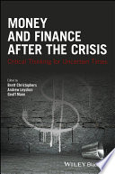 Money And Finance After The Crisis Book PDF