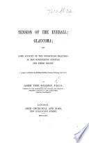 Tension of the eyeball and glaucoma, a paper