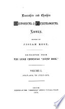 Lancashire and Cheshire Historical and Genealogical Notes