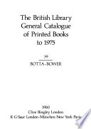 The British Library General Catalogue of Printed Books to 1975