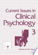 Current Issues in Clinical Psychology Book