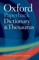 Books - Oxford Paperback Dictionary & Thesaurus 3e | ISBN 9780199558469
