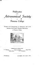 Publication of the Astronomical Society of Pomona College