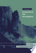 A Short Course in Geotechnical Site Investigation Book PDF