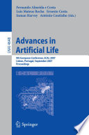 Advances in Artificial Life