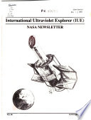 NASA Newsletter for International Ultraviolet Explorer  IUE