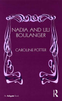 Pdf Nadia and Lili Boulanger Telecharger