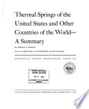 Thermal Springs Of The United States And Other Countries