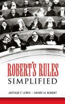 Robert's Rules Simplified
