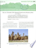 Recovery Potential of Fire-damaged Southwestern Ponderosa Pine