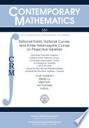 Rational Points Rational Curves And Entire Holomorphic Curves On Projective Varieties