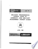 Military professional ethics code of conduct and military academies' honor codes