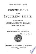 Confessions of an Inquiring Spirit Book