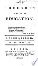 Some Thoughts Concerning Education The Eleventh Edition