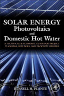 Solar Energy  Photovoltaics  and Domestic Hot Water Book