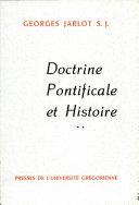 Pdf Doctrine Pontificale et Histoire Telecharger