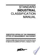 Standard Industrial Classification Manual Book