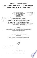 Department of Defense Appropriations for