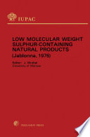 Low Molecular Weight Sulphur Containing Natural Products Book