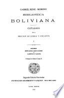 Biblioteca boliviana: Catálogo de la sección de libros y folletos