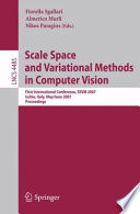 Scale Space And Variational Methods In Computer Vision Book PDF