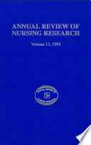 Annual Review Of Nursing Research Volume 13 1995