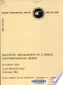 Magnetic Breakdown in a Finite One dimensional Model