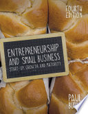 """Entrepreneurship and Small Business"" by Paul Burns"