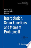 Interpolation  Schur Functions and Moment Problems II