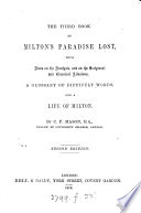 The Third Book Of Milton S Paradise Lost With Notes C By C P Mason