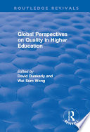 Global Perspectives on Quality in Higher Education