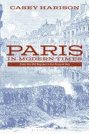 Paris in Modern Times Pdf/ePub eBook