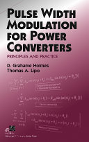 Pdf Pulse Width Modulation for Power Converters
